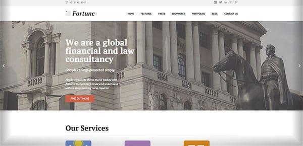 Template WordPress - Fortune