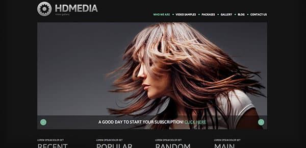 Template WordPress - HD Media