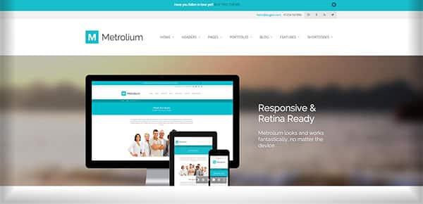 Template WordPress - Metrolium