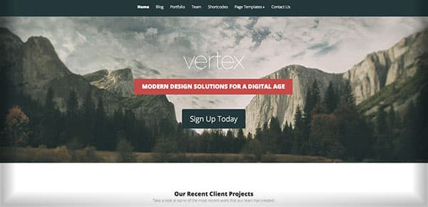 Template WordPress - Vertex