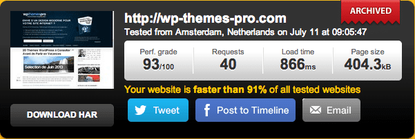 WP Themes Pro avec WP Rocket