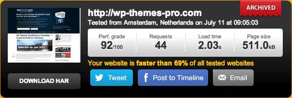 WP Themes Pro sans WP Rocket