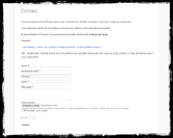 Contact - Le Petit Jardinier Urbain