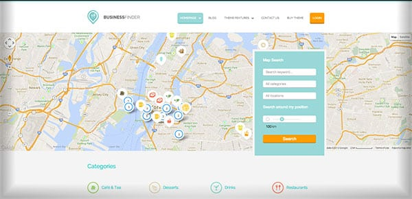Theme WordPress - BusinessFinder
