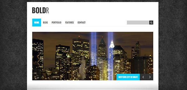Theme WordPress Gratuit 2013 - Boldr
