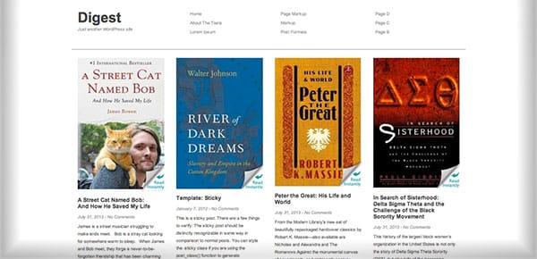 Theme WordPress Gratuit 2013 - Digest
