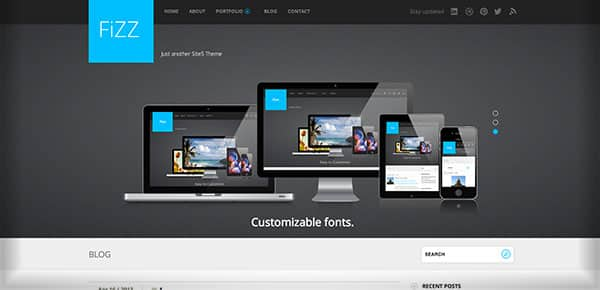 Theme WordPress Gratuit 2013 - Fizz