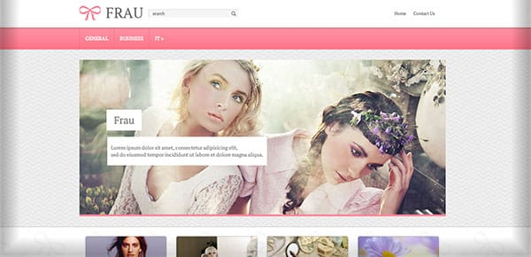 Theme WordPress Gratuit 2013 - Frau