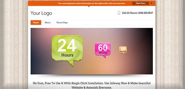 Theme WordPress Gratuit 2013 - Infoway