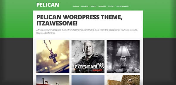 Theme WordPress Gratuit 2013 - Pelican