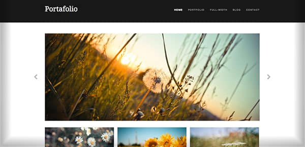 Theme WordPress Gratuit 2013 - Portafolio