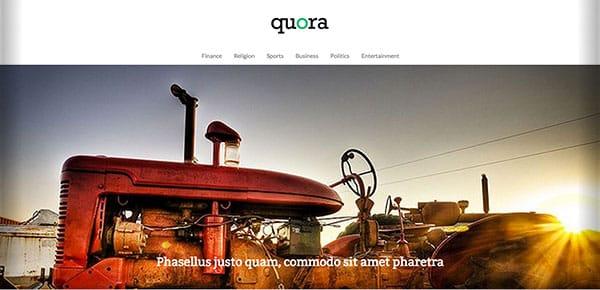 Theme WordPress Gratuit 2013 - Quora