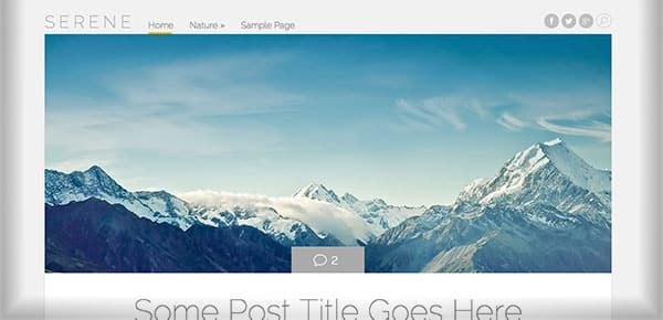Theme WordPress Gratuit 2013 - Serene
