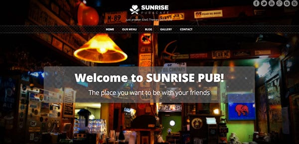 Theme WordPress Gratuit 2013 - Sunrise