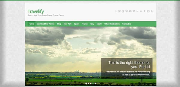 Theme WordPress Gratuit 2013 - Travelify