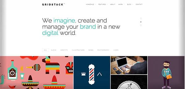 Theme WordPress - Gridstack