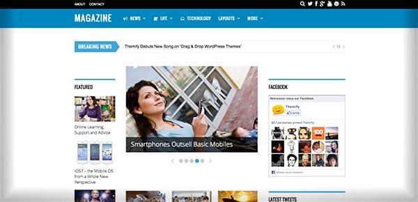 Theme WordPress - Magazine