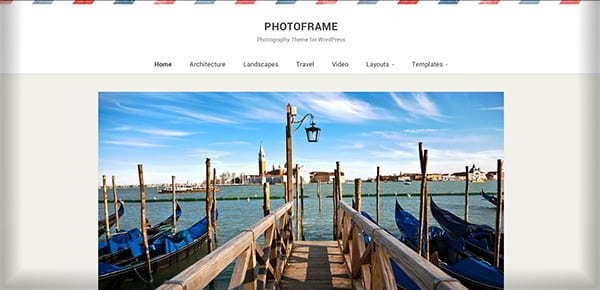 Theme WordPress - Photoframe