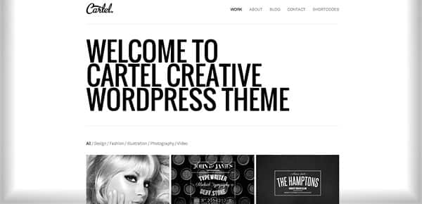Template WordPress - Cartel