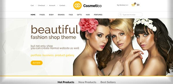 Template WordPress - Cosmetico