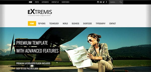 Template WordPress - Extremis