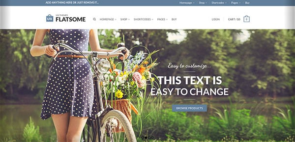 Template WordPress - Flatsome