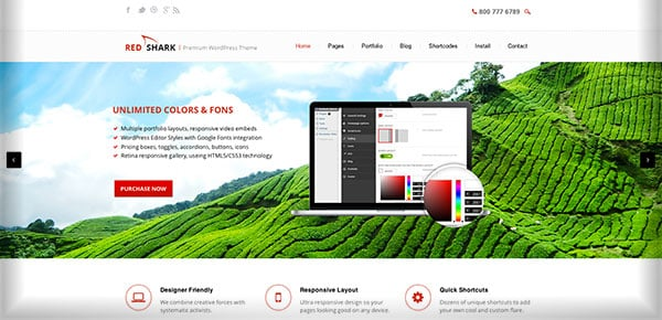 Template WordPress - Red Shark