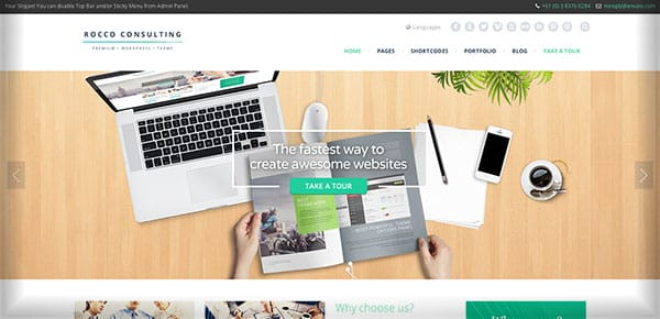 Template WordPress - Rocco