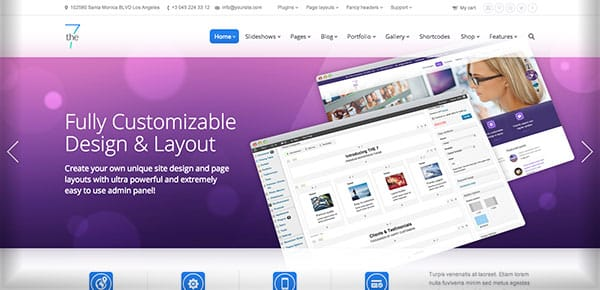 Template WordPress - The7