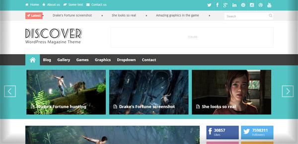 Thème WordPress - Discover