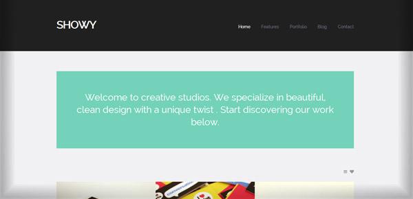 Thème WordPress - Showy
