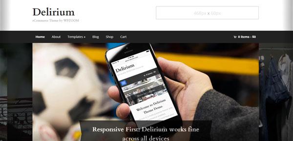Thème WordPress - Delirium