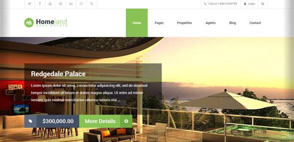 Thème WordPress - Homeland