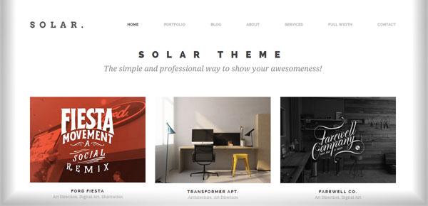 Thème WordPress - Solar
