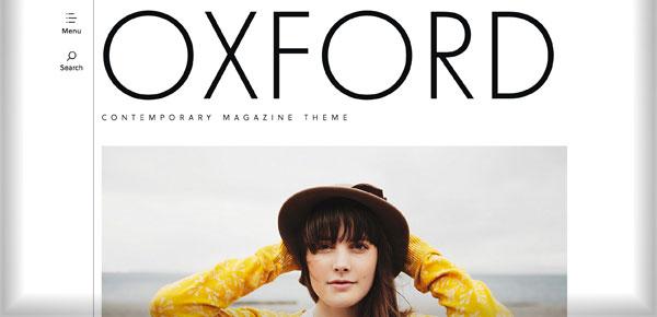 Thème WordPress - Oxford