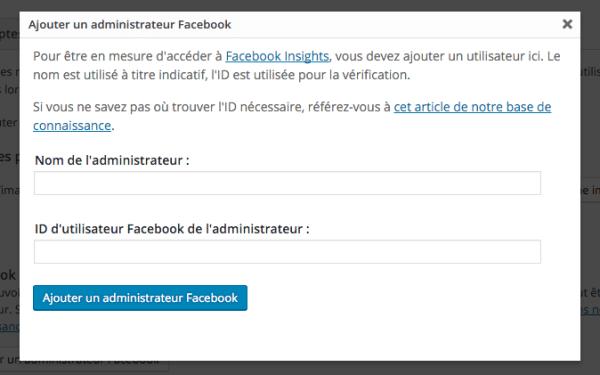 Ajouter administrateur Facebook dans Yoast SEO