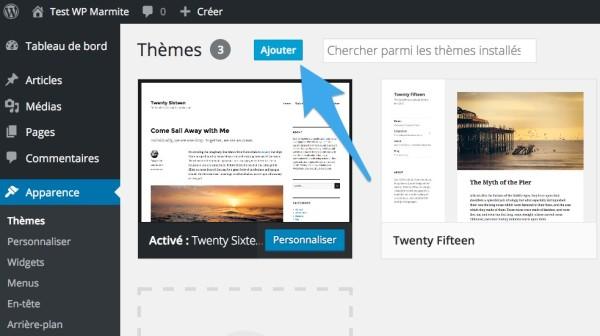 Ajouter un thème dans WordPress