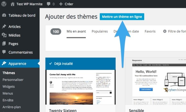 Comment installer un th me wordpress le guide pas pas - Metre en ligne ...