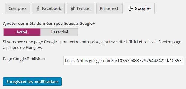 Google+ Yoast SEO