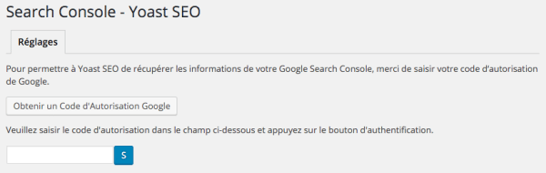 Search Console dans Yoast SEO