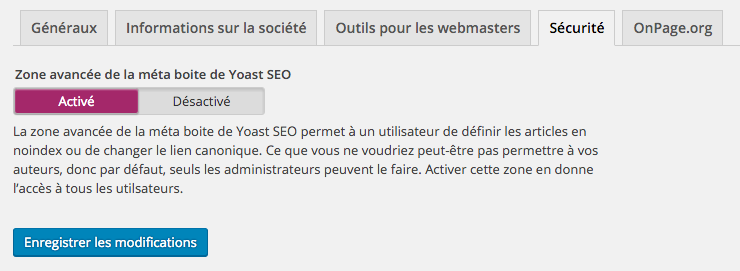 Sécurité WordPress SEO