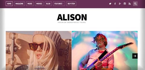 Thème WordPress - Alison
