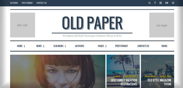Thème WordPress - Old Paper