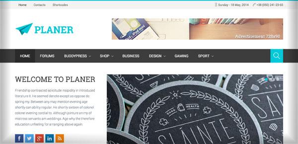 Thème WordPress - Planer