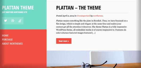 Thème WordPress - Plattan