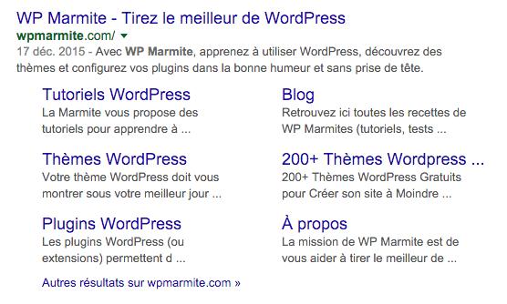 WP Marmite sur Google