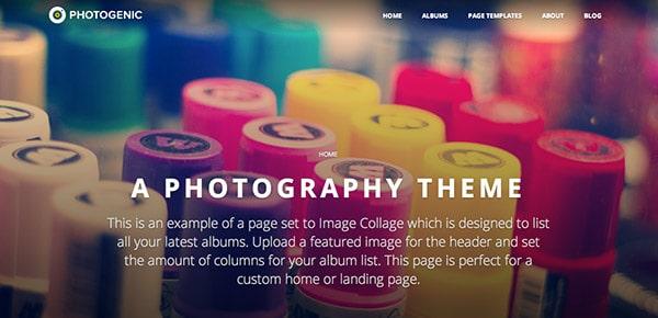 Découvrez le thème WordPress Responsive Photogenic