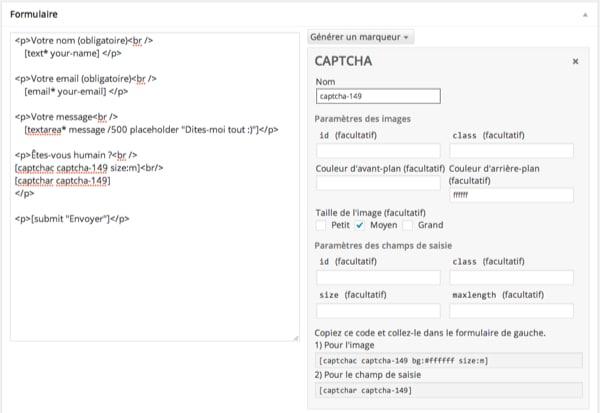 Captcha Contact Form 7