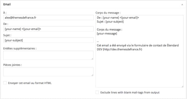 Email Contact Form 7