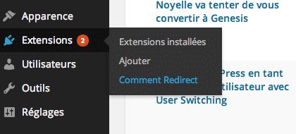 Configurer Comment Redirect